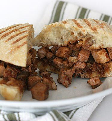 Chinese Pork Roast Panini | www.tasteandtellblog.com