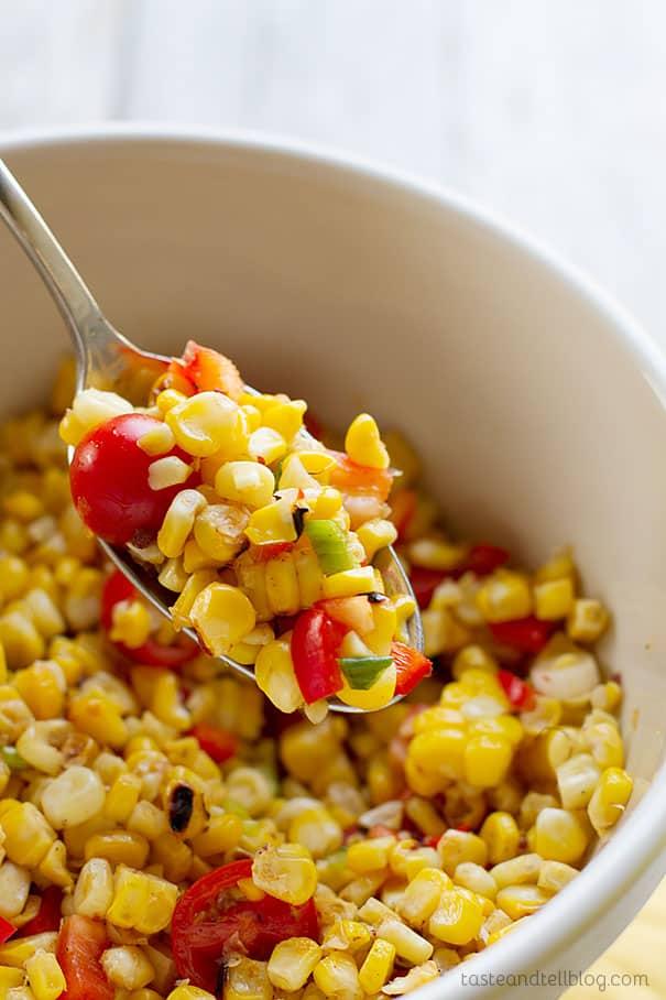 Easy Summer Recipe - Grilled Corn Salad