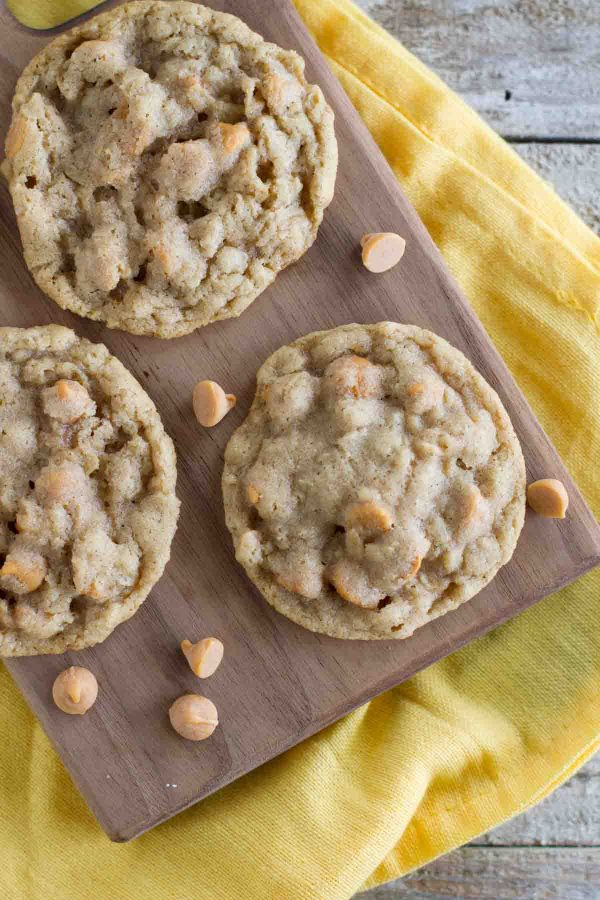 A family favorites - these Oatmeal Scotchies are filled with oats and butterscotch chips and are soft and chewy.