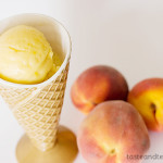 Peach Frozen Yogurt | www.tasteandtellblog.com