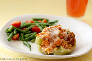 Vegetable and Sausage Stuffed Peppers | www.tasteandtellblog.com