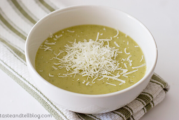 Zucchini and Yellow Squash Soup | www.tasteandtellblog.com
