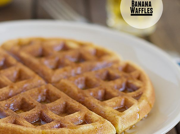 Banana Waffles on Taste and Tell
