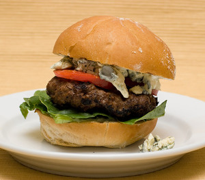Blue Cheese Burger | www.tasteandtellblog.com