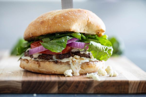 Recipe for Blue Cheese Burgers