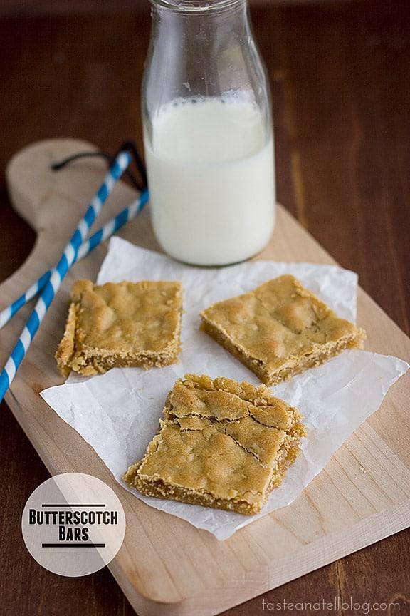 Butterscotch Bars {Cookbook of the Month Recipe}