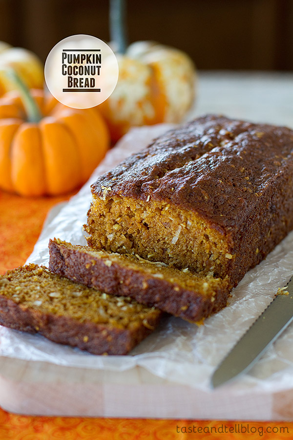 This Pumpkin Coconut Bread is an easy quick bread infused with coconut and pumpkin.