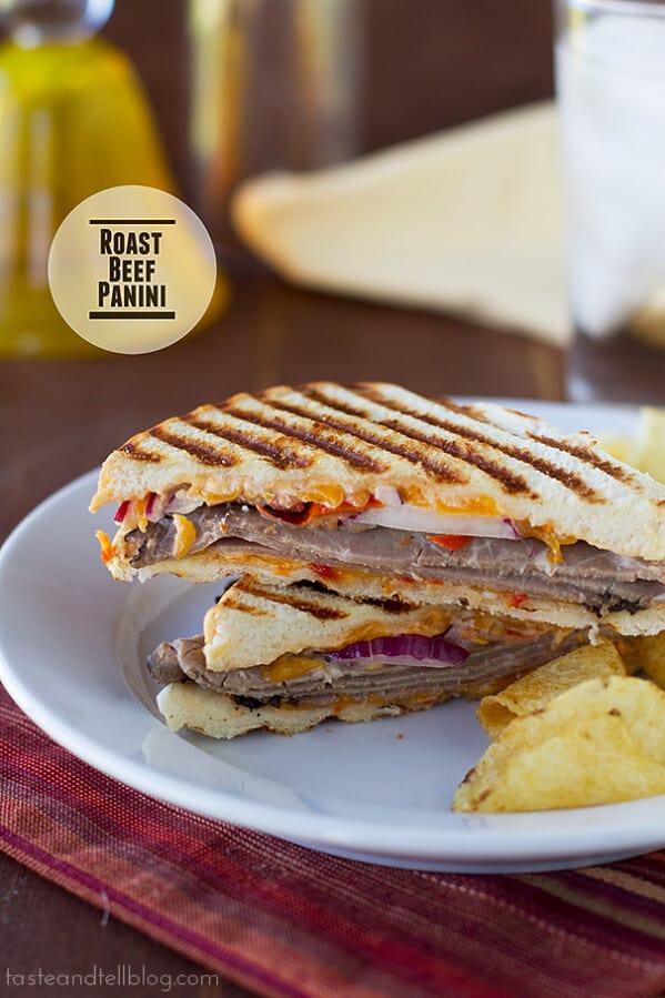 Roast Beef Panini | www.tasteandtellblog.com