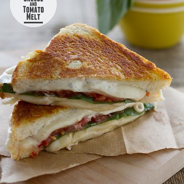 Three Cheese and Tomato Melt | www.tasteandtellblog.com