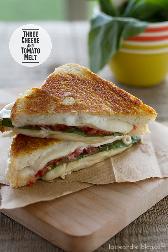 Three-Cheese and Tomato Melt