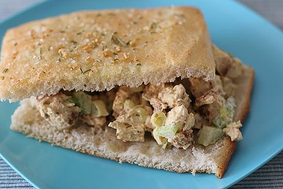 Chicken Salad Focaccia Sandwiches | www.tasteandtellblog.com