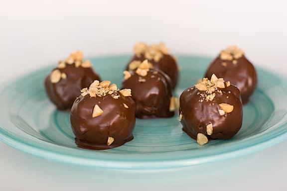 Chocolate Peanut Butter Balls | www.tasteandtellblog.com