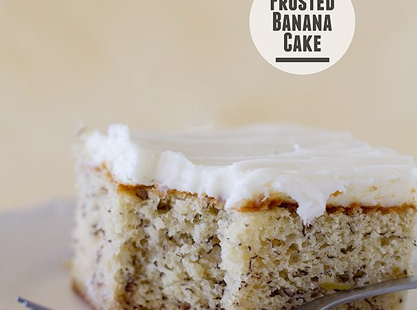 Frosted Banana Cake on Taste and Tell