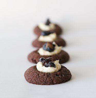 Chocolate Blueberry Thumbprints | www.tasteandtellblog.com