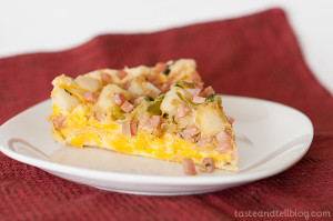 Ham and Cheese Pan Souffle | www.tasteandtellblog.com
