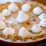 Taffy Apple Cheesecake Pie | www.tasteandtellblog.com