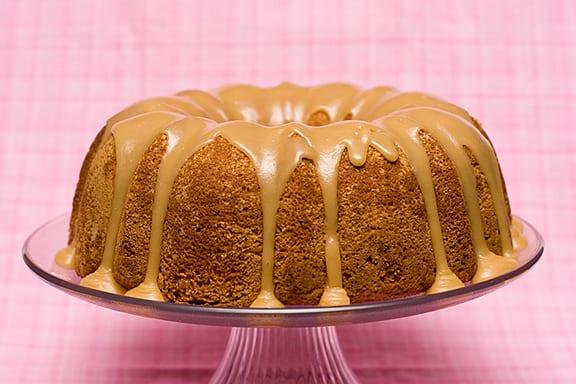 Buttermilk Cake with Caramel Icing   www.tasteandtellblog.com