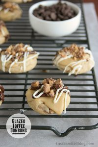 Glazed Toffee Bonbons | www.tasteandtellblog.com
