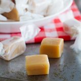 Homemade Caramel Recipe - perfect for gift giving, this homemade caramel is so tasty and addictive!