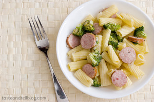 Pasta with Sausage and Broccoli | www.tasteandtellblog.com