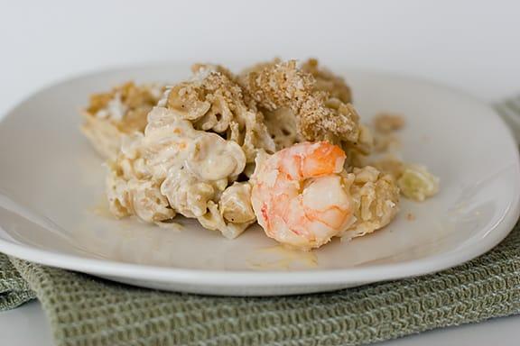 Aunt Vicki's Shrimp and Pasta Casserole | www.tasteandtellblog.com