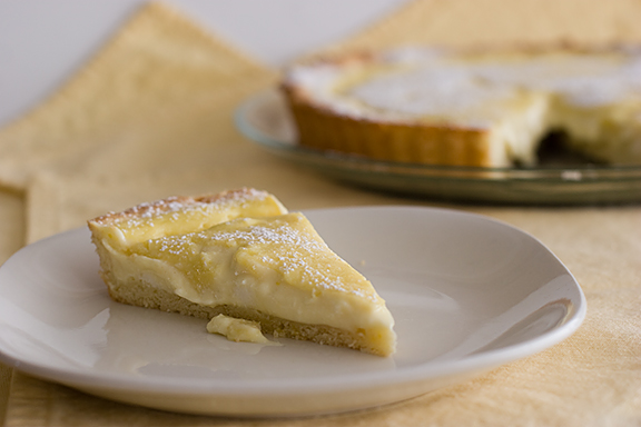 Custard Cream and Ricotta Tart | www.tasteandtellblog.com