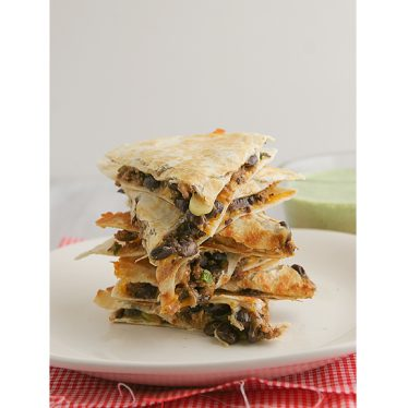 Meatloaf Quesadillas with Cilantro Cream | www.tasteandtellblog.com