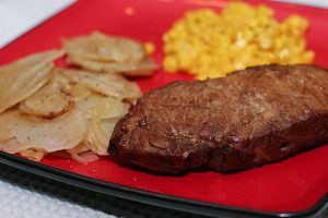 Pam Potatoes and Mardi Gras Pork | www.tasteandtellblog.com