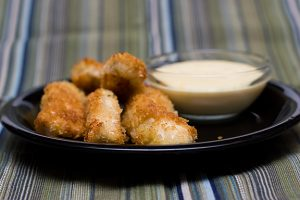 Chicken Fingers with Orange-Miso Dipping Sauce | www.tasteandtellblog.com