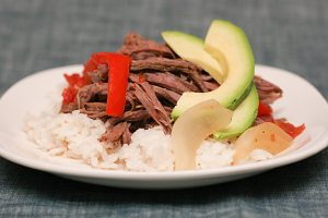 Cuban Braised Beef and Peppers | www.tasteandtellblog.com