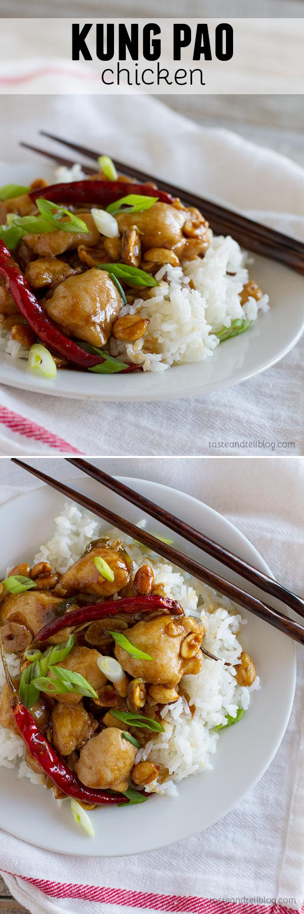 Faster than take-out - this Kung Pao Chicken recipe is spicy and full of flavor.  Simple ingredients come together to make this easy weeknight dinner recipe.