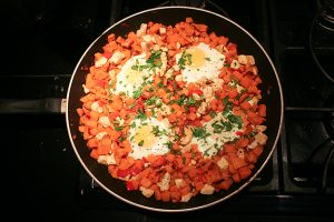 Sweet Potato Chicken Hash | www.tasteandtellblog.com