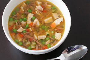 Toasted Orzo Chicken Soup | www.tasteandtellblog.com