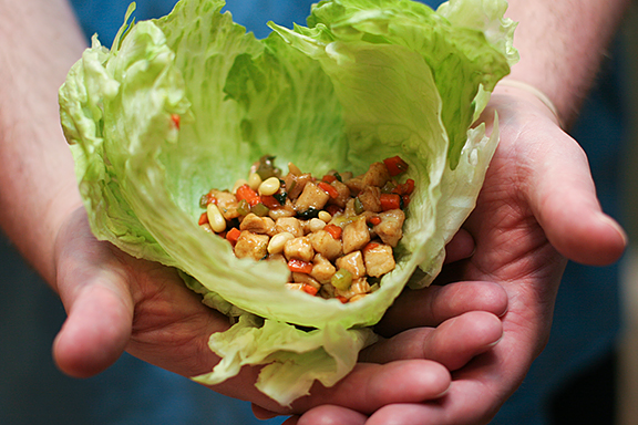 Cookbook of the Month Recipe - Chicken Soong in Lettuce Wrap - Taste and Tell