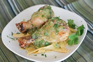 Chicken with Tomatillo Sauce | www.tasteandtellblog.com