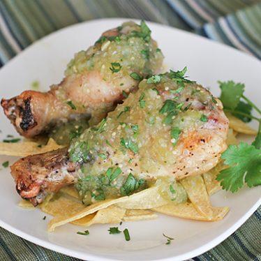 Chicken with Tomatillo Sauce | www.tasteandtellblog.com