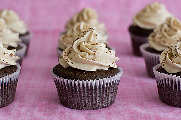 Chocolate Cupcakes with Whipped Cream Cheese Frosting | www.tasteandtellblog.com