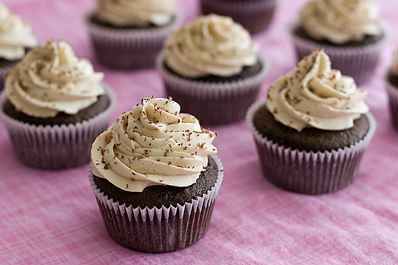 Chocolate Cupcakes with Whipped Cream Cheese Frosting   www.tasteandtellblog.com