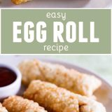 Easy Egg Rolls with text in the center