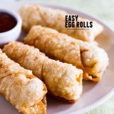 Egg Rolls with text over the top