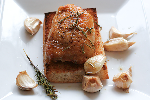 Garlic Roasted Chicken   www.tasteandtellblog.com