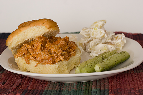Meg's Shredded Barbecue Chicken Sandwiches