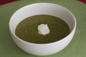 Potato-Leek-Spinach Soup | www.tasteandtellblog.com