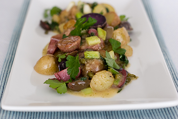 Potatoes, Olives and Capers with Lemon-Dill Vinaigrette | www.tasteandtellblog.com
