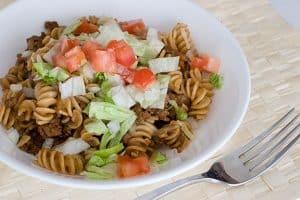 Taco Pasta Toss | www.tasteandtellblog.com