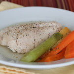 Chicken Poached in Broth | www.tasteandtellblog.com