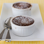 Hot Chocolate Souffles {Cookbook of the Month Recipe}