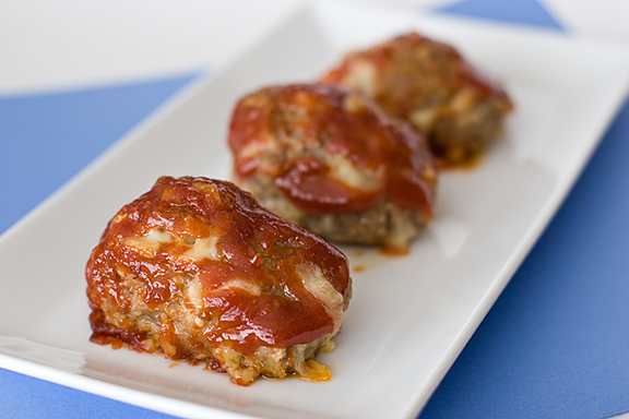Mini Cheese Meatloaves | www.tasteandtellblog.com