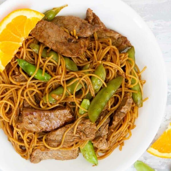 How to make Orange Teriyaki Beef with Noodles
