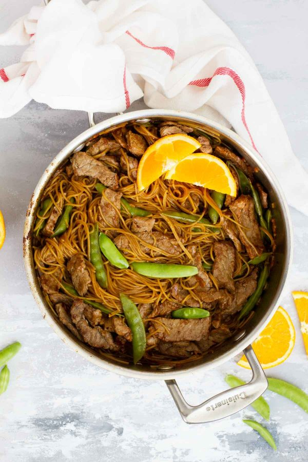 Make your own take out - Orange Teriyaki Beef with Noodles
